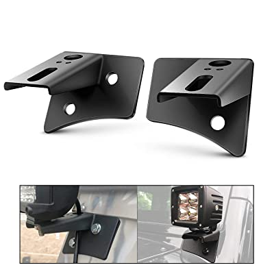 Nilight Pillar Windshield Hinge Mounting Brackets for Offroad LED Fog Halogen Work Light: Automotive