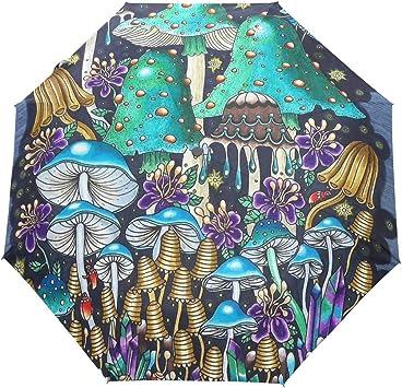 Custom Mushrooms Compact Travel Windproof Rainproof Foldable Umbrella