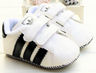 adidas Shoes Birth Baby Infant Trainers Sneakers Soft Crib Pram Shoes 1UK  2UK 3UK 4UK -White Blue Black Red Pink Green 0-18M  Amazon.co.uk  Shoes    Bags 27ad84306