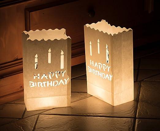 10 x Bolsas de luz ignífuga bolsas de papel para velas velas ...