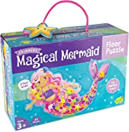 Peaceable Kingdom Shimmery Magical Mermaid Floor Puzzle