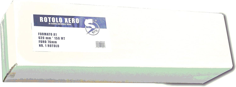 1pz rollo papel Plotter Xero A1 614 * 150 80 gr: Amazon.es: Bricolaje y herramientas