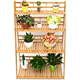 Bamboo Four-Layer Plant Stand, Natural