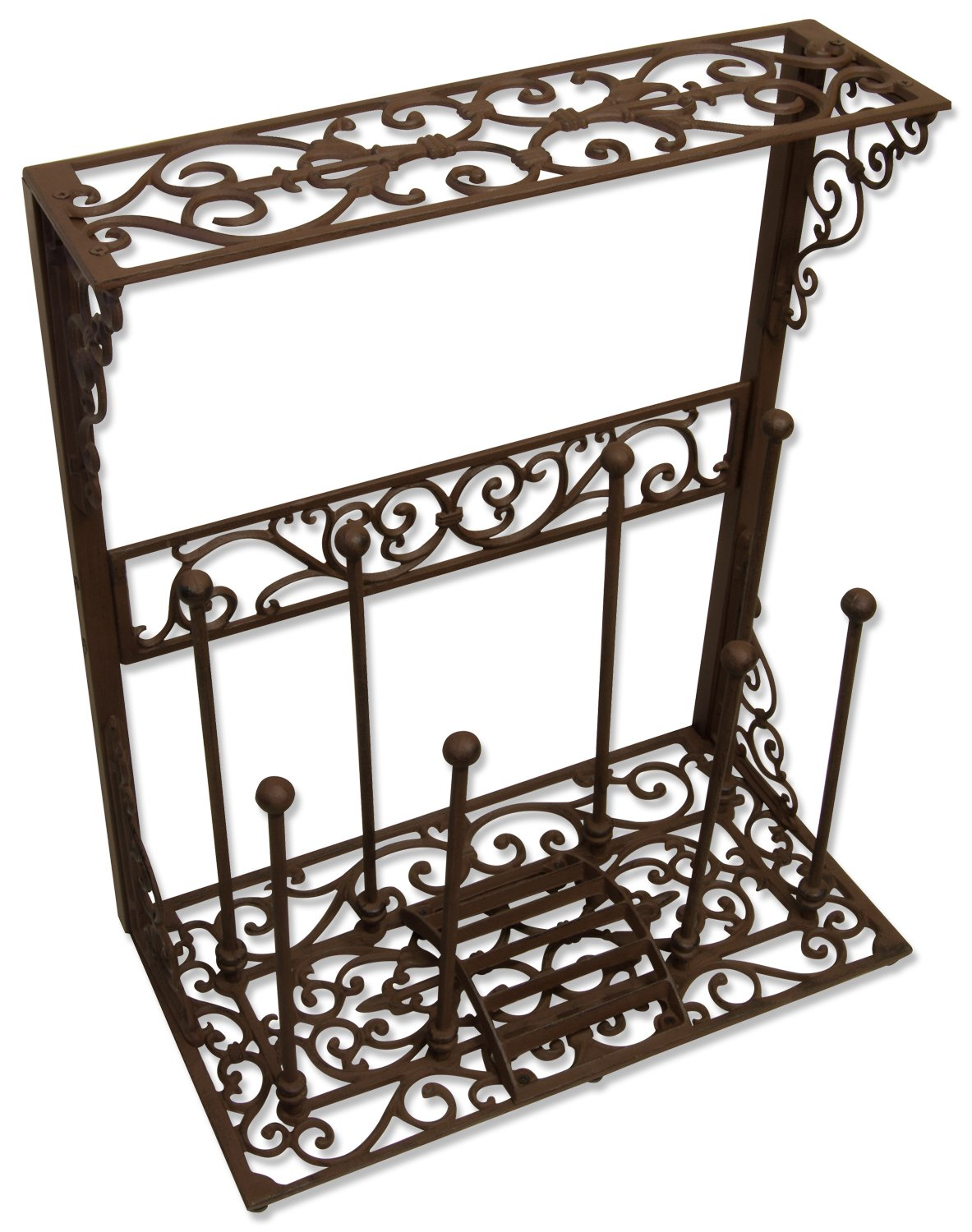 Woodside Cast Iron Boot Rack Organizer Storage Shoe Wellington Holder  Scraper: Amazon.co.uk: Garden U0026 Outdoors
