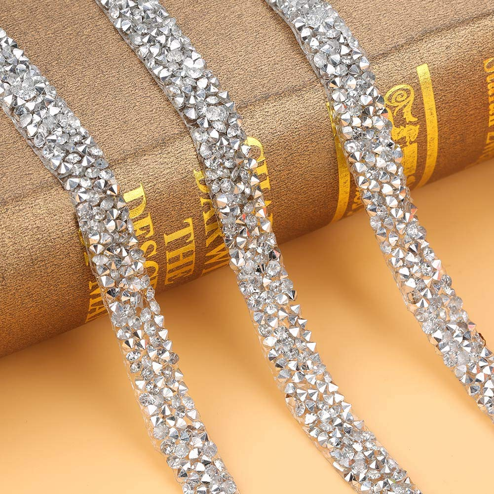 Plastic Diamond Mesh Wrap Roll Bling Jewelry Supplies Decoration for Fashion Handbags 10Yard//Pack, 10mm, Silver Shoe Flowers Cellphone Shell Clothing Accessories Curtains Rhinestone Ribbon