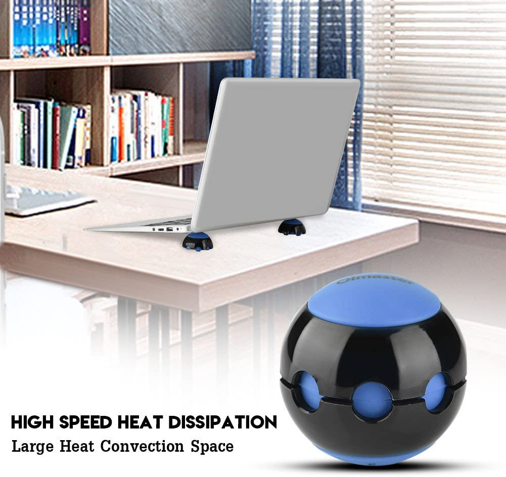 Blue Tangxi Oimaster Laptop Cooling Ball,Laptop Cooler,Silicone Ventilated Stand Balls,Non-Slip,Heat Convection,Mini Portable Stand//Cooler for Laptop Notebook