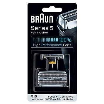 Braun 51S - Recambio para afeitadora eléctrica, compatible con afeitadoras Series 5, color plata