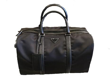 959772714c0f Prada Unisex Black Nylon Fabric Duffel Bag Tessuto Saffiano 2VC002   Amazon.ca  Luggage   Bags