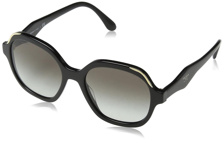 4d05a74b93e4 Amazon.com  Prada PR06US 1AB0A7 Black PR06US Square Sunglasses Lens  Category 2 Size 52mm  Prada  Clothing