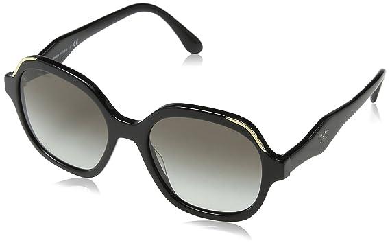 2a2743cba4c4 Prada PR06US 1AB0A7 Black PR06US Square Sunglasses Lens Category 2 Size 52mm
