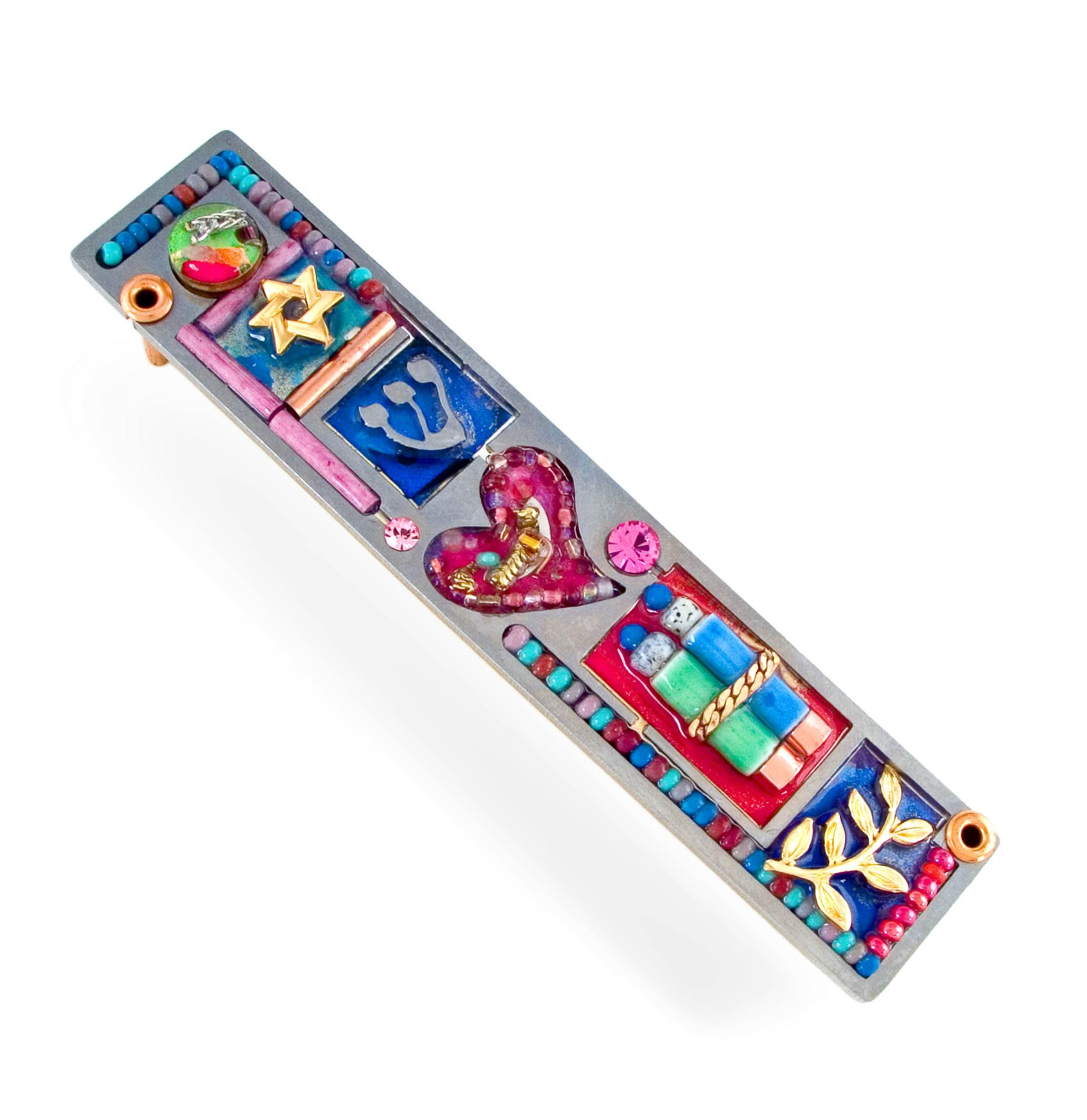 Seeka Heart Mezuzah Curated by The Artazia Collection M0633 by The Artazia Collection