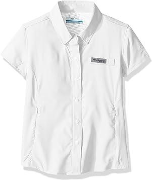 Columbia Tamiami - Camisa de Manga Corta para niña, Mujer, 1675241, Blanco, XXS: Amazon.es: Deportes y aire libre