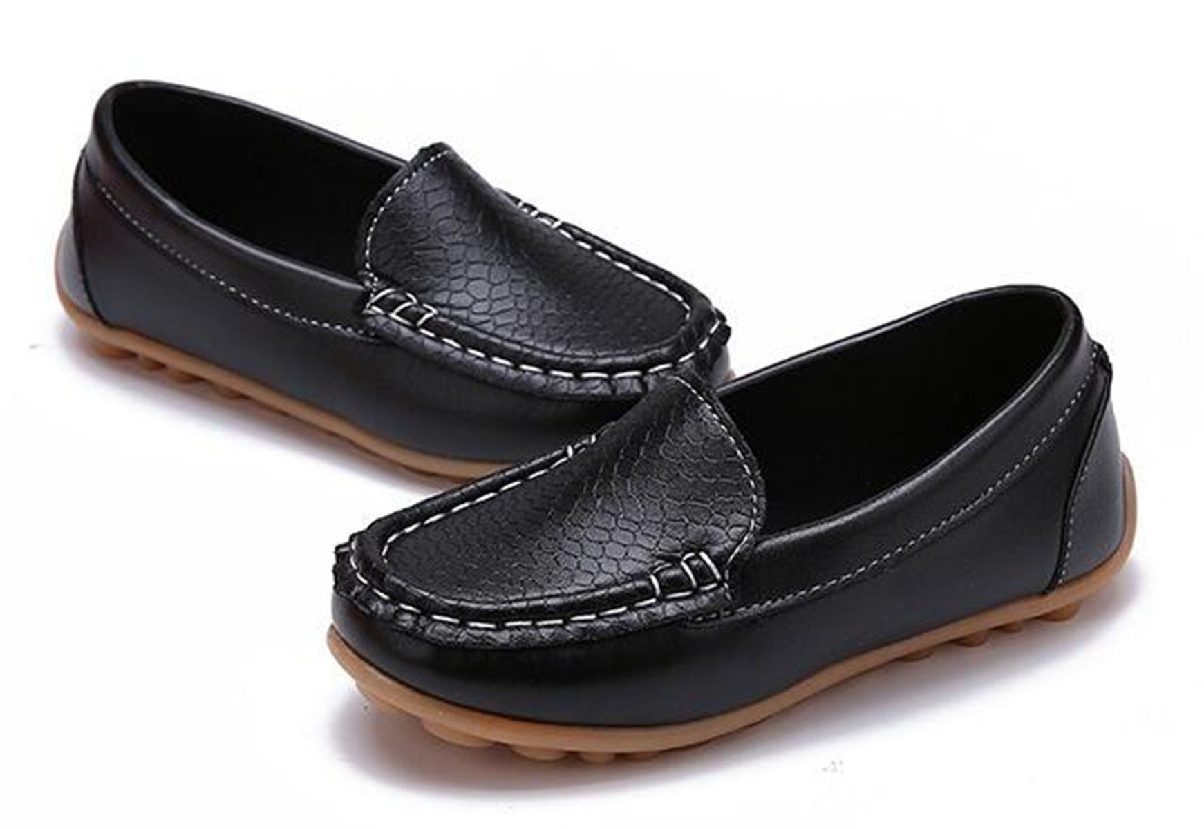 Sakuracan Boys Girls Leather Loafers Slip-on Boat Dress-Shoes (Toddler/Little Kid) by Sakuracan (Image #4)