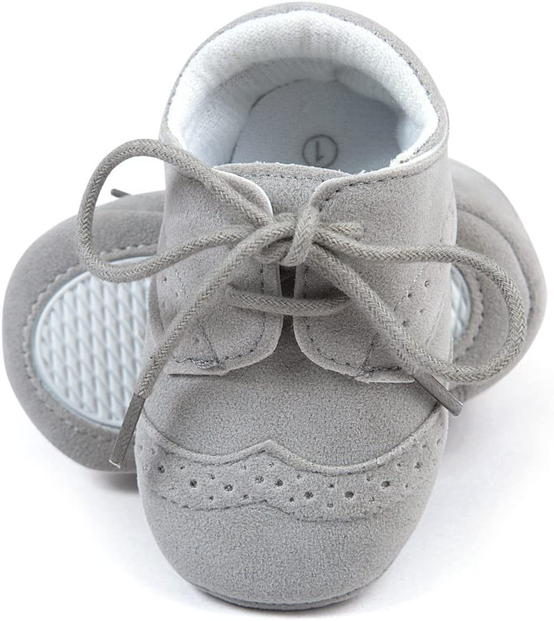 Zapatos sneakers para bebés, de cuero sintético gris Talla:12-18 meses