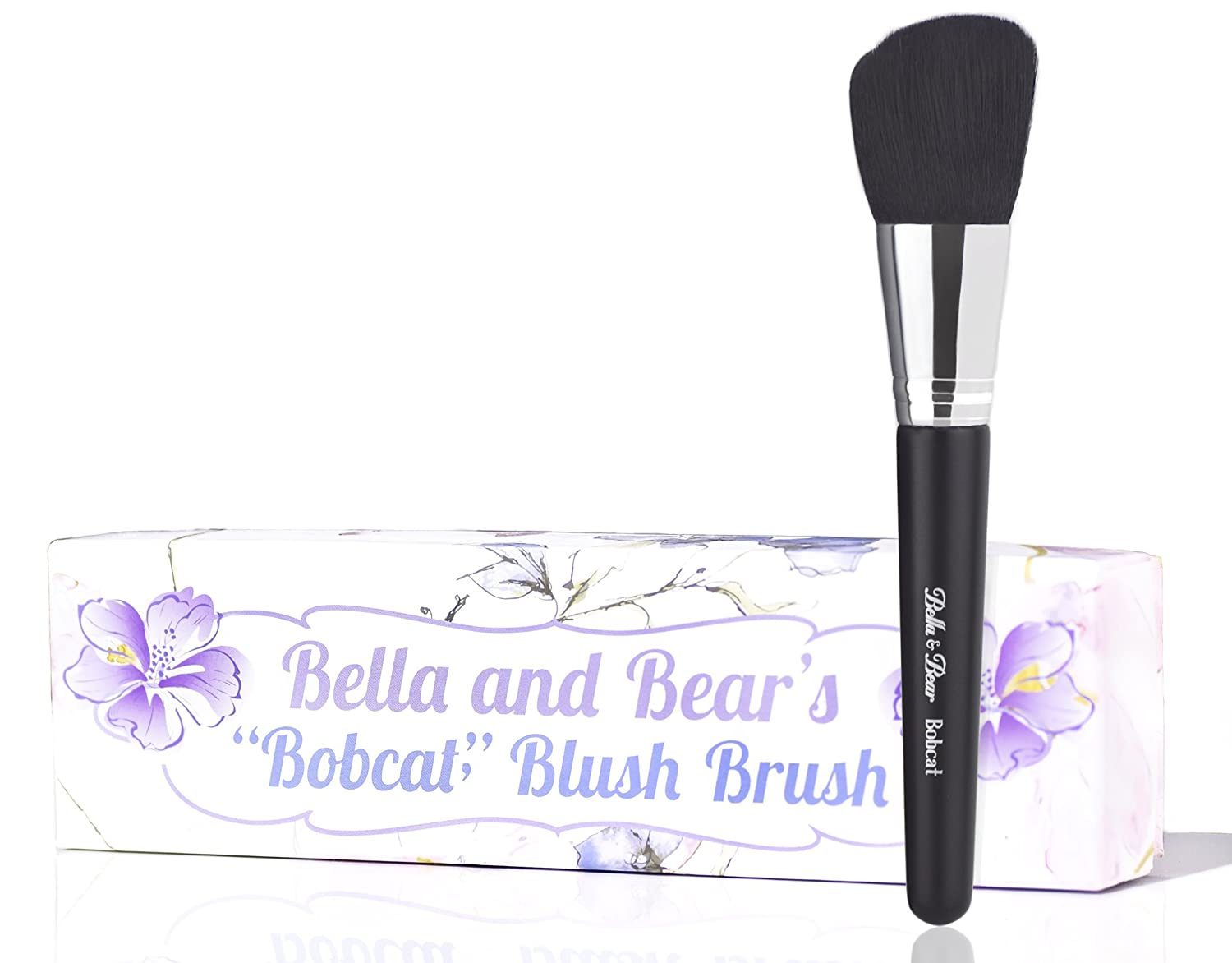 Bella and Bear Blush Brush (Spring) for highlighting bronzing contouring suitable for creams and powders vegan friendly