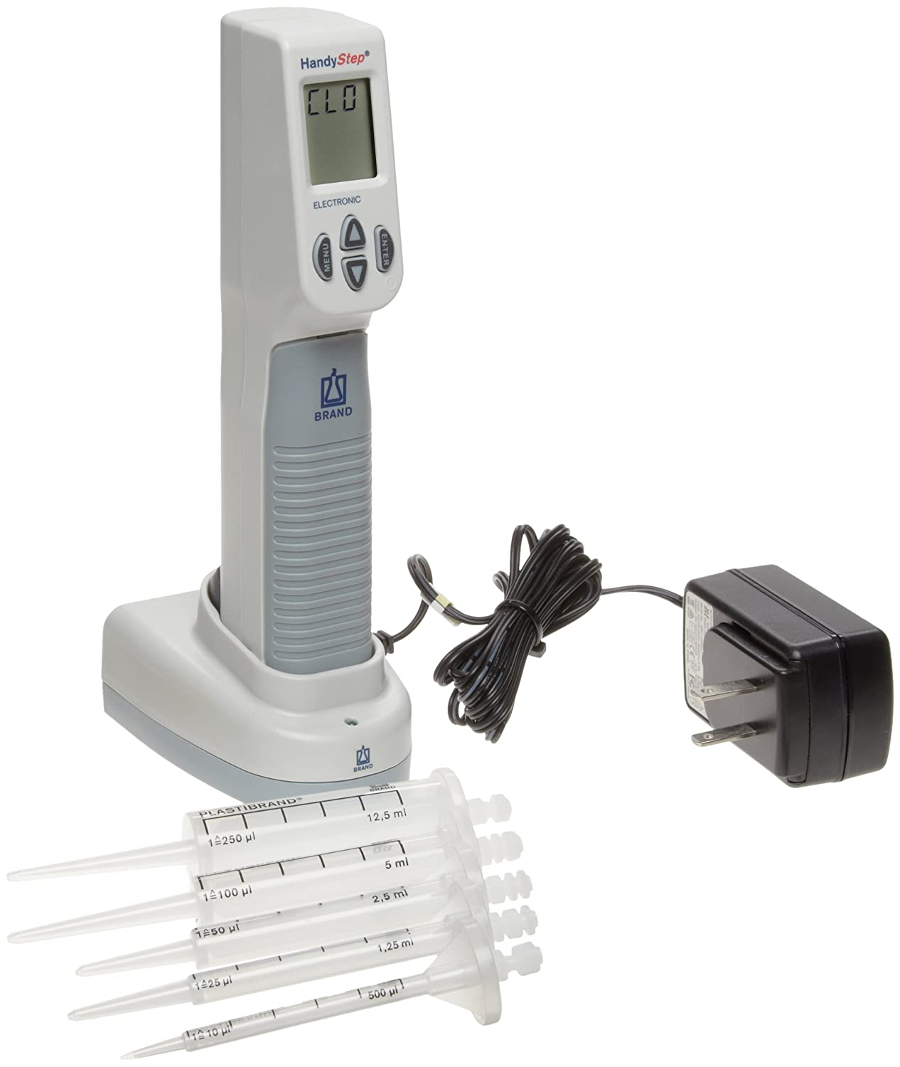 BrandTech 705012 HandyStep Electronic Repeating Pipette 110V