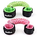 Zooawa Anti Lost Wrist Link, 2 Pack Toddler Leash Kid Leashes Babies Safety Harness,Toddlers Safety Strap for Travel, 4.9ft/1