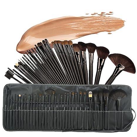 47fe16273 Base Maquillaje Professional Set de Brochas - RFAIKA 32 Piezas Pinceles de  Maquillaje Suaves Belleza Maquillaje