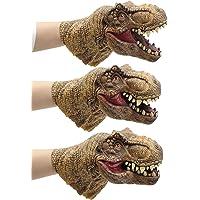 Yolococa Dinosaur Hand Puppet Toys,Soft Rubber Realistic Raptor Dinosaur Head Tyrannosaurus Rex,1 PCS