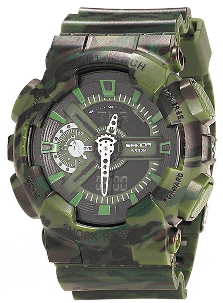 Boys Watch Analog Digital Quartz Electronic Sport Watch Chronograph Automatic Wristwatches Green by YLJHCYGG