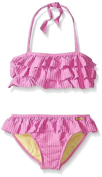 4cb6c01b05e Amazon.com: Jessica Simpson Girls' Seersucker Two Piece Bikini: Clothing