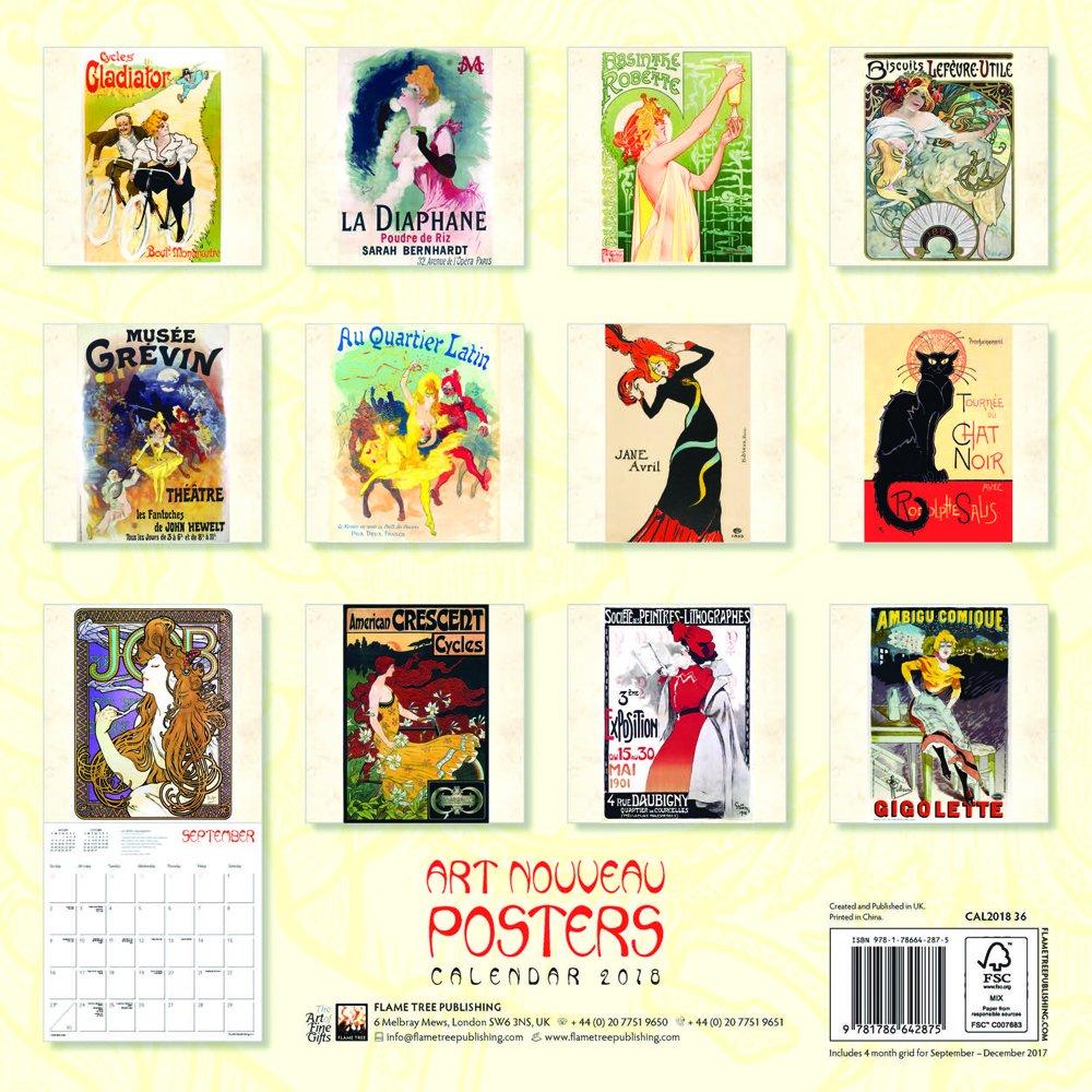 Art Nouveau Posters Wall Calendar 2018 (Art Calendar): Amazon.co.uk:  Various Artists: 9781786642875: Books