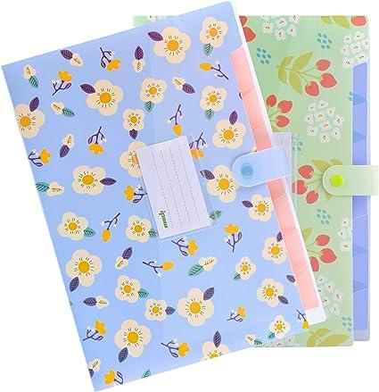 Rosa ipow Porta documenti soffietto A4 Cartella portadocumenti espandibile Raccoglitore porta documenti Portatile con 5 Tasche perfetta per Casa Scuola e Viaggio di Lavoro
