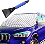Car Windshield Snow Ice Winter Cover 62X49 Extra Large with 4
