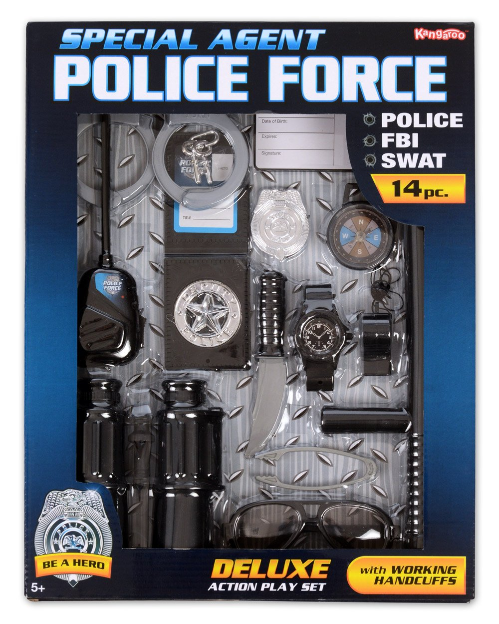 amazon com police role play kit 14 pc set toys u0026 games