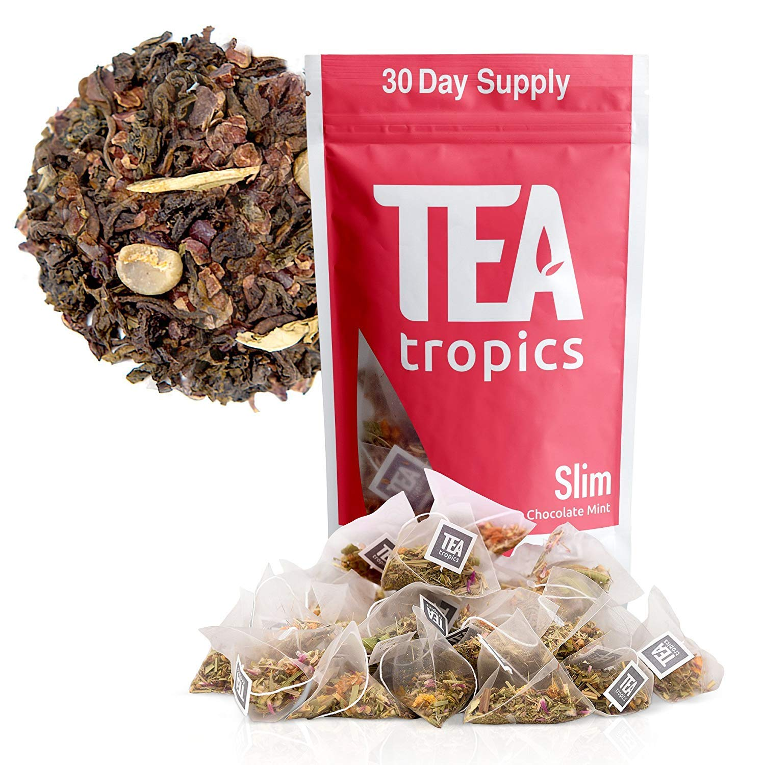 Detox Tea For Weight Loss and Colon Cleanse, Teatox to Burn Body Fat For a Flat Belly, Natural Appetite Suppressant Weightloss Plan and Diet To Feel Lighter and More Energized, Non Laxative 30 Days