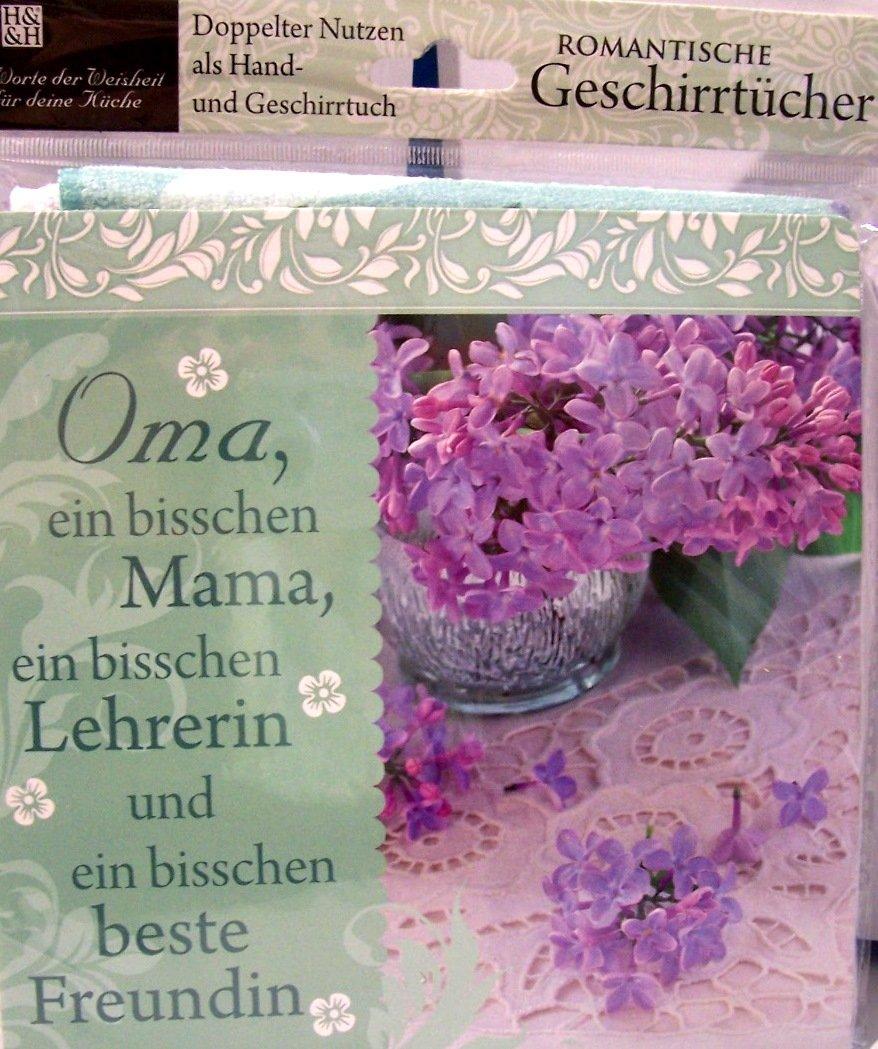 Geschirrtuch mit Spruch Oma 10171/016 Handtuch Geschirrhandtuch ...