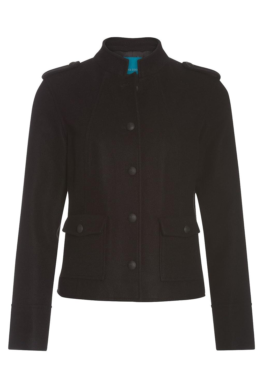 COOL CODE Damen Blazer-Jacke im Military-Stil Jacke Frauen Blouson Langarm  schwarz,42  Amazon.de  Bekleidung 82d923c68b