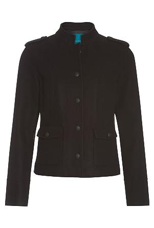 COOL CODE Damen Blazer-Jacke im Military-Stil Jacke Frauen Blouson Langarm  schwarz, 201ed93eae