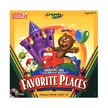 crayola magic 3d coloring book favorite places