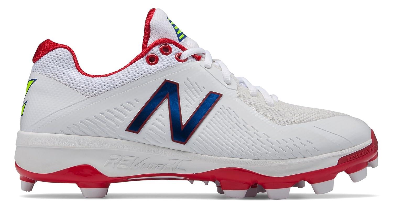 [New Balance(ニューバランス)] 靴シューズ メンズ野球 TPU 4040v4 Puerto Rico White with Red ホワイト レッド US 12 (30cm) B07DMS8JZS