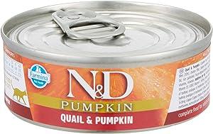 Farmina Natural & Delicious Quail, Pumpkin & Pomegranate for Cats, 2,8 Ounces, Case of 12