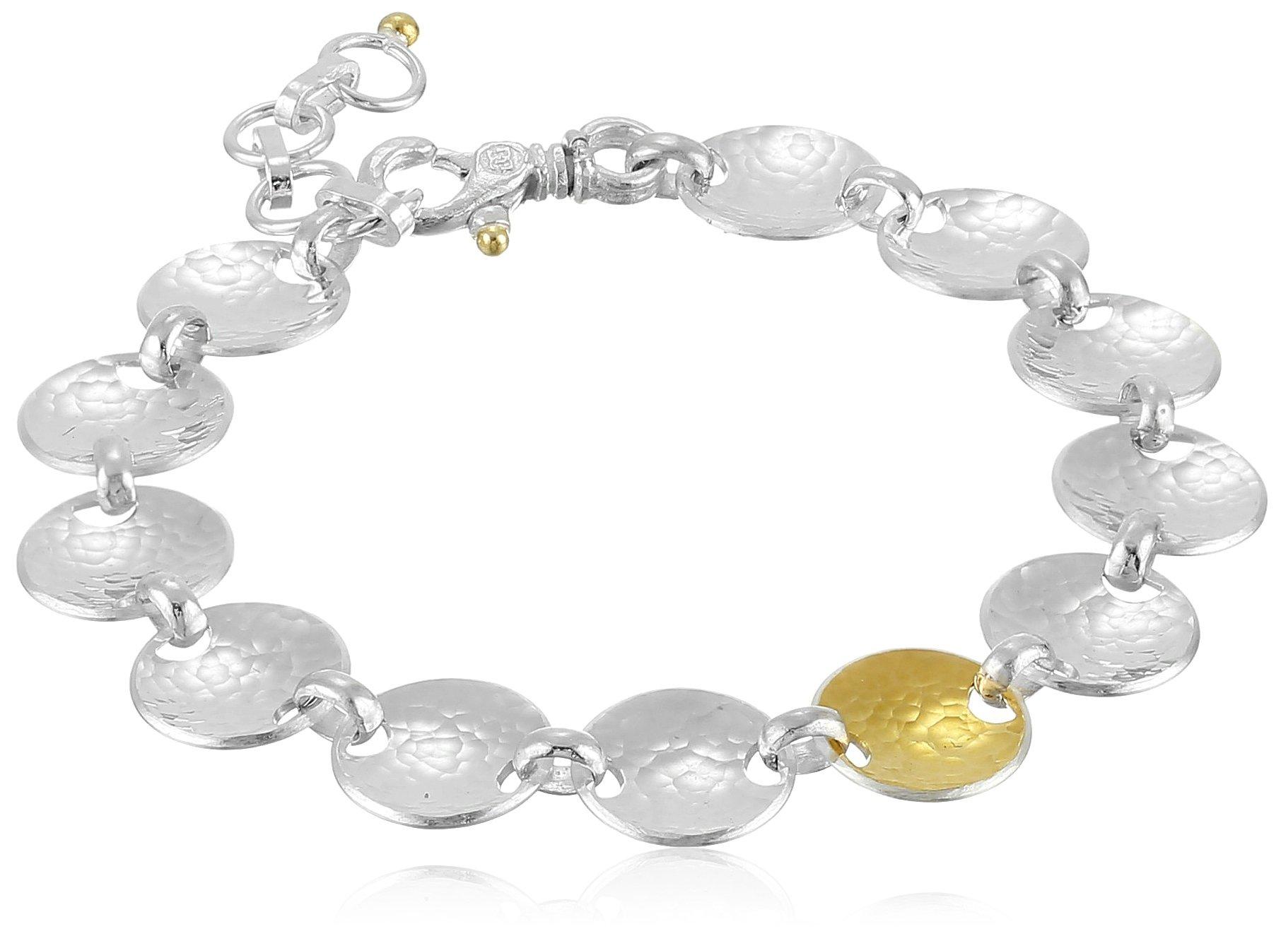GURHAN Hourglass Sterling Silver Soft Bracelet, 8'' + 1.5'' Extender by Gurhan