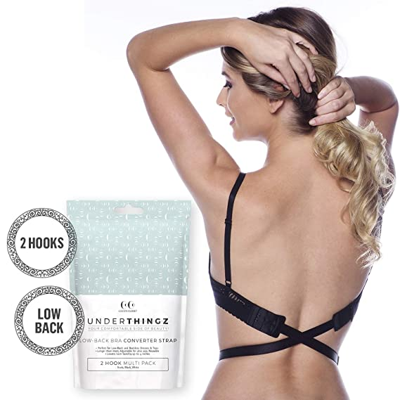5aced14760 Coco s Closet Low Back Bra - Adjustable Bra Extender for Backless Dress -  Black 2 Hook Strap Converter at Amazon Women s Clothing store