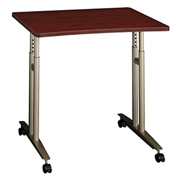 Amazon.com: Bush Business Furniture Series C Collection 36W Adjustable  Height Mobile Table In Mahogany: Kitchen U0026 Dining