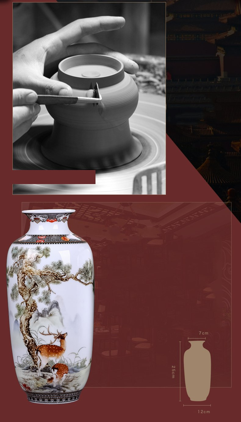 Ceramic Vase Vintage Style Animal Vase Fine Smooth Surface Home Decoration Furnishing Articles by In In (Image #4)