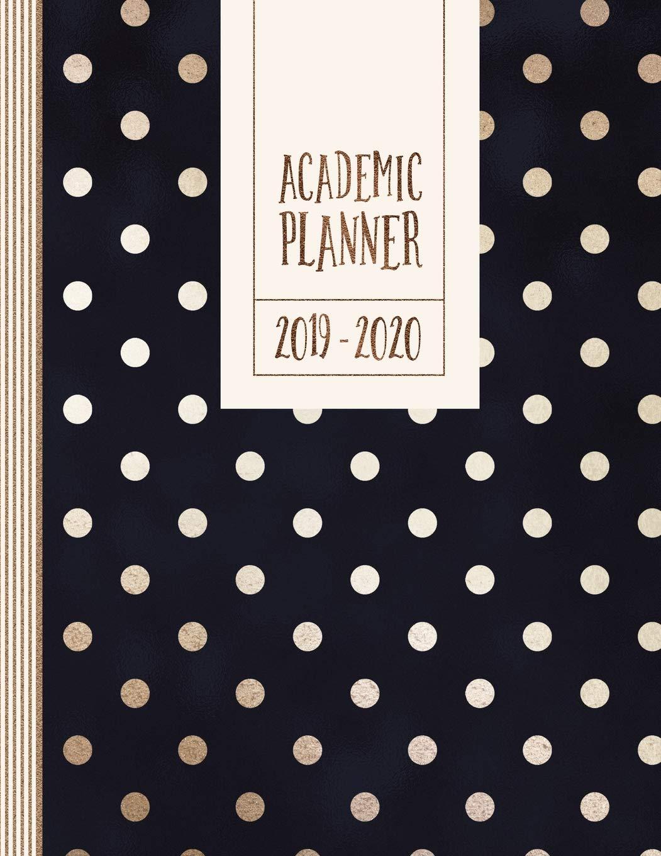 Amazon.com: Academic Planner 2019-2020: Navy Blue Golden ...