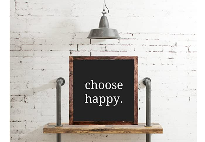 Choose Happy Wood Sign Home Decor Rustic Distressed Quote Sign Gift Wall  Art Hand Painted,