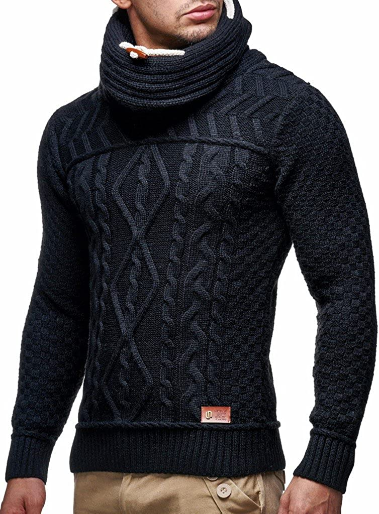 Leif Nelson Mens Pullover Knit Sweater LN-7025