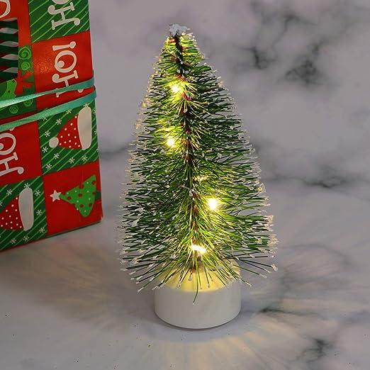 Mobestech Mini lámpara de árbol de navidad decoración pequeña luz ...