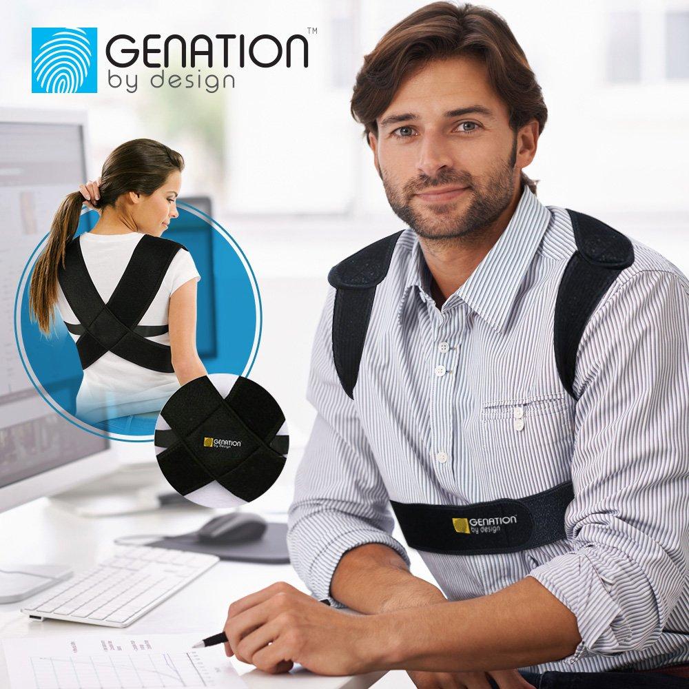 Regular Premium Posture Support - Unisex Posture Corrector For Women & Men - Chest, Shoulder & Lower Back Support Improve Bad Posture, Better Relief Via Natural, Adjustable Comfortable Straps