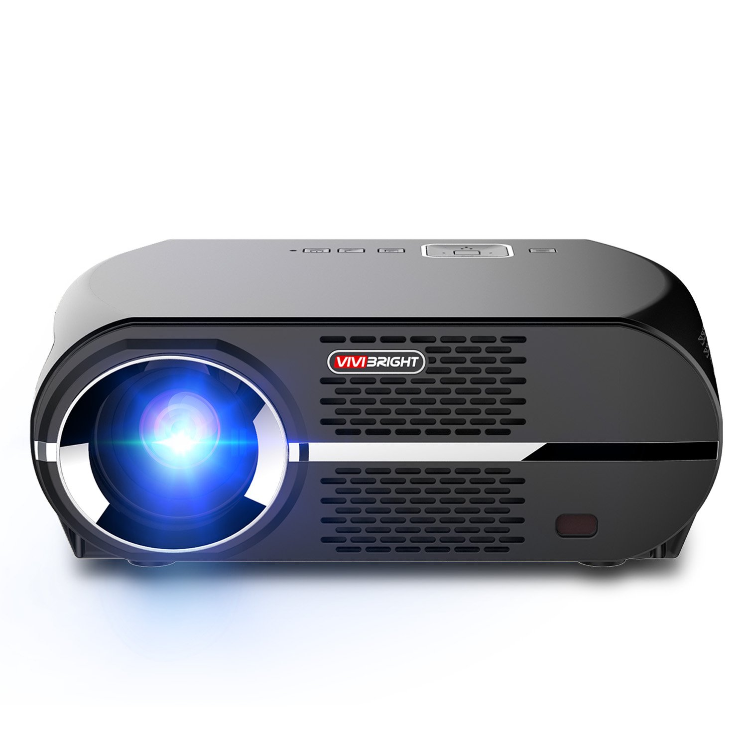 VIVIBRIGHT GP100 Video Projector,LCD 1080P Full-HD Level Image Quality,3500 Lumens LED Luminous Efficiency, WXGA Resolution, In Your Living Room Bedroom Meet All Entertainment,Games,Video Viewing