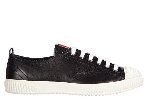 94ff0f829d6051 Prada Damenschuhe Turnschuhe Damen Leder Schuhe Sneakers Kalbsleder Soft  Schwarz EU 36 3E58763ON8F0967