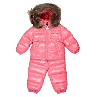 72f533f27 Image Unavailable. Image not available for. Color: Moncler Baby Girls Pink  Snow Suit Coats Size 6/9 Months