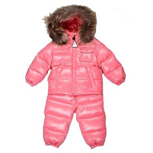1d8461744 Amazon.com: Moncler Baby Girls Pink Snow Suit Coats Size 6/9 Months ...