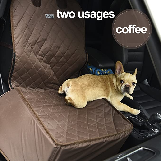 Go Wild Water Proof Collapsible Anti Static Pet Car Front Seat Cover Dog Cat Puppy Protector